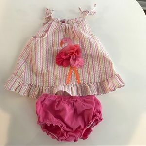 Good Lad baby girl's flamingo outfit